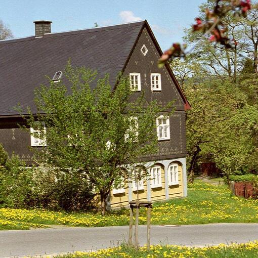 [Translate to Englisch:] Umgebindehaus in der Oberlausitz