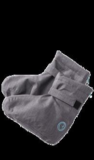 Praktisches Softshell Booties grau