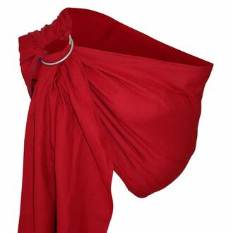 Storchenwiege-RingSling-Leo-rouge