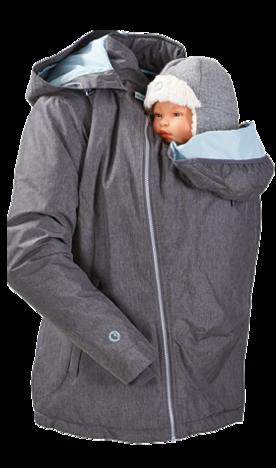 Tragebekleidung Winterjacke für zwei grau