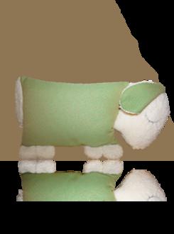 Praktisches Kuschelschaf Leo grün